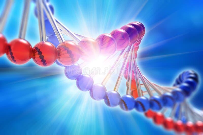 Begrepp för vetenskap för genetisk forskning för DNA royaltyfri illustrationer
