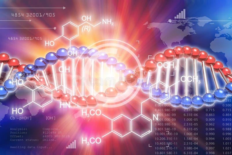 Begrepp för vetenskap för genetisk forskning för DNA stock illustrationer