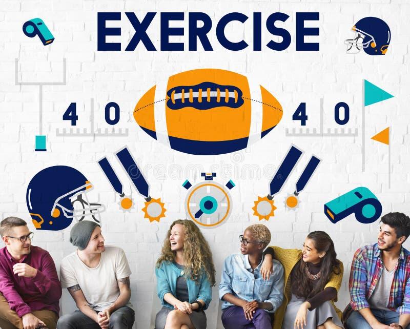 Begrepp för vinnare för teamwork för utbildning för övning för ligasportkondition arkivfoton