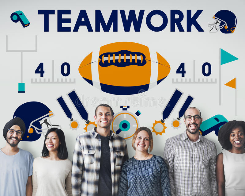 Begrepp för vinnare för teamwork för utbildning för övning för ligasportkondition royaltyfri foto