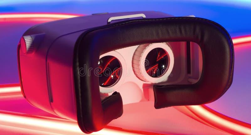 Begrepp för virtuell verklighet VR arkivfoton