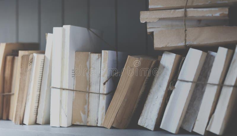 Begrepp för vishet för högskola för lärobok för bokarkivsida royaltyfri bild