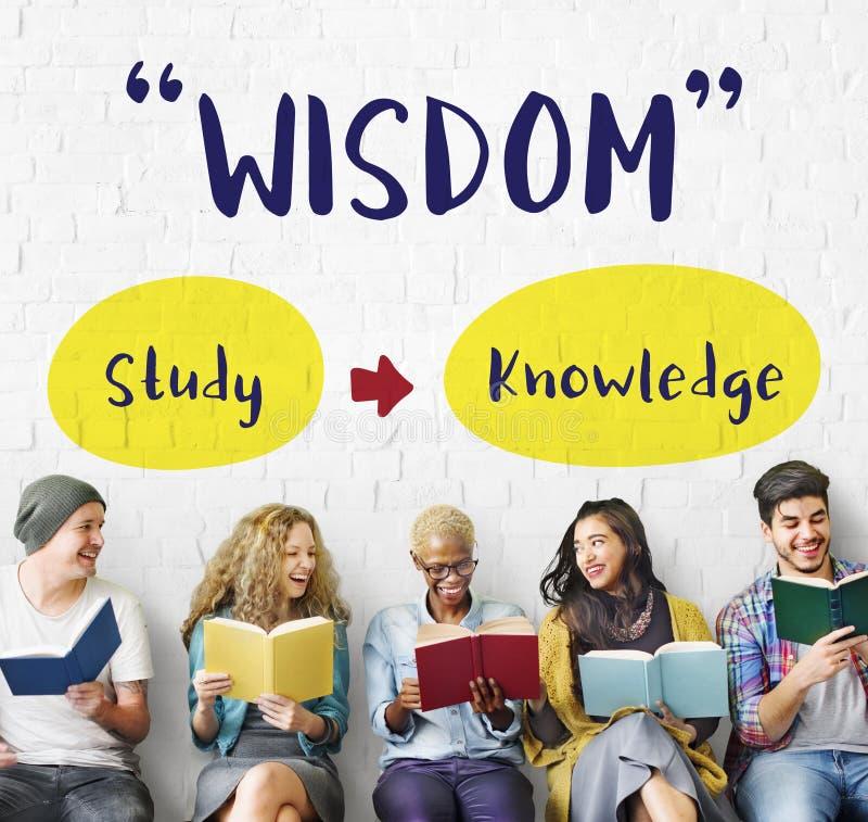 Begrepp för vishet för skola för läs-och skrivkunnighetexpertis arkivbild