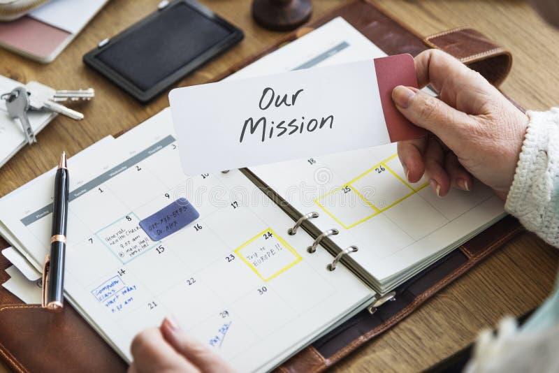 Begrepp för vision för inspiration för idéer för beskickningambitionmål arkivfoton