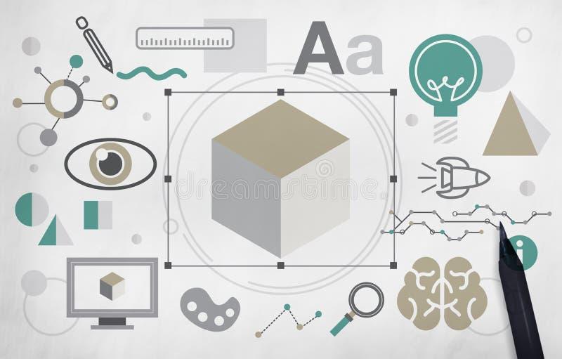 Begrepp för vision för kreativitet för skapelsedesigninnovation royaltyfri illustrationer