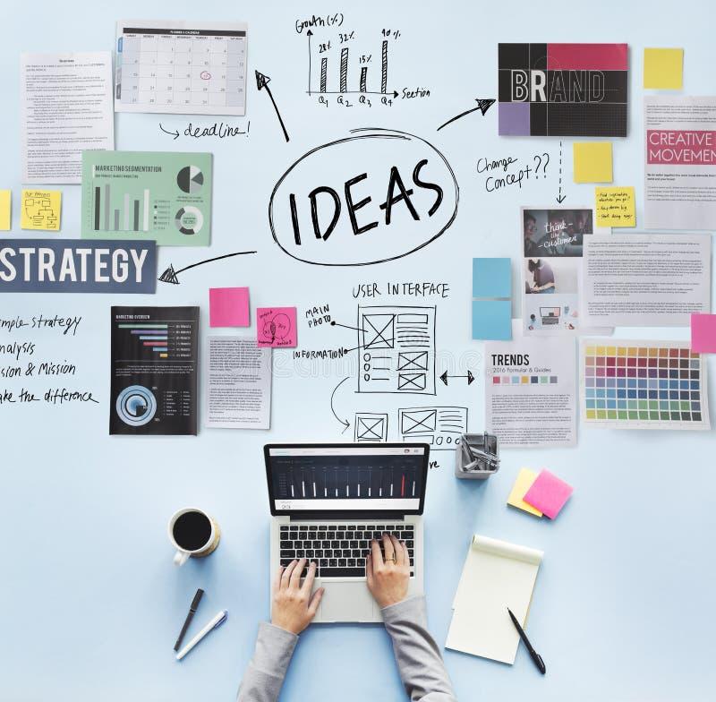 Begrepp för vision för strategi för förslag för idébegreppsbeskickning arkivbild