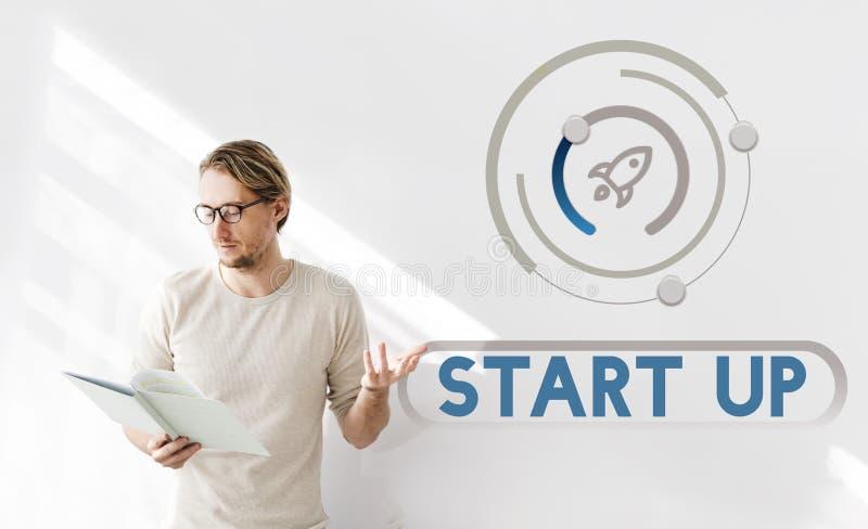Begrepp för vision för strategi för lansering för affärsstart arkivfoto