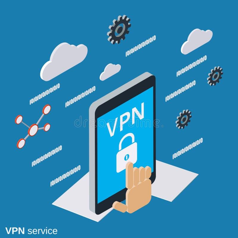 Begrepp för VPN servicevektor vektor illustrationer