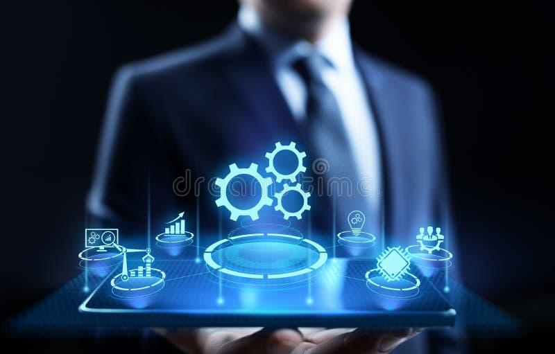 Begrepp f?r optimisation f?r innovation f?r teknologi f?r aff?rsprocessautomation industriellt stock illustrationer