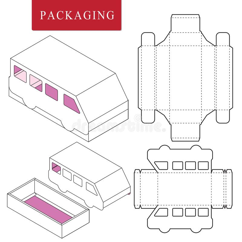 Begrepp f?r packemalltrans. packemall vektor illustrationer