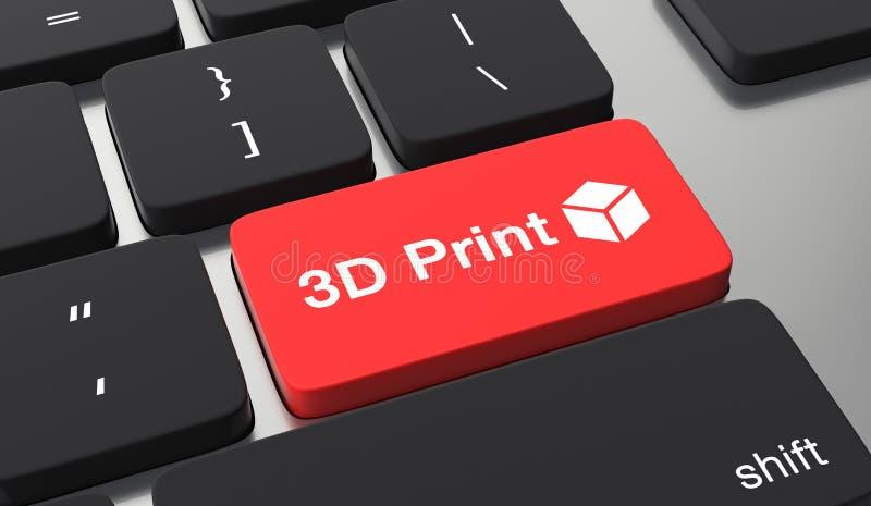 begrepp f?r printing 3D stock illustrationer