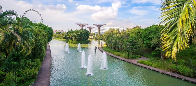 Begrepp, gränsmärke och populärt för Singapore lopp för turist- dragningar royaltyfri foto