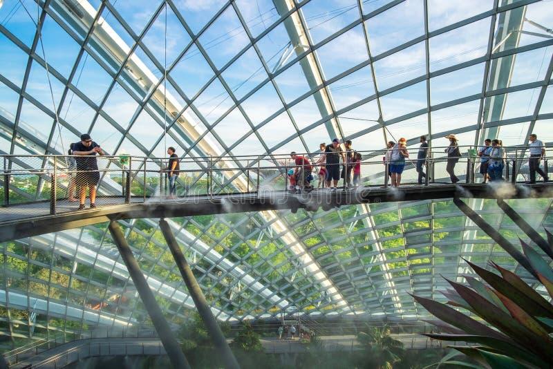 Begrepp, gränsmärke och populärt för Singapore lopp för turist- dragningar arkivfoto