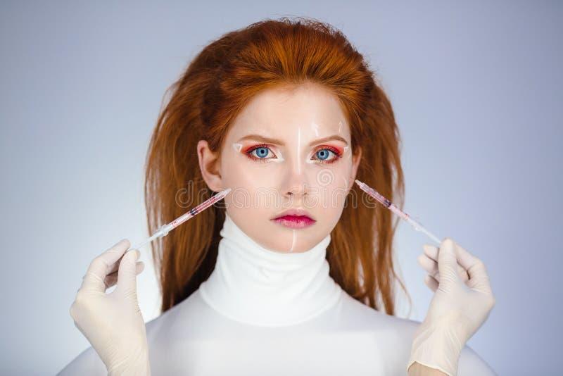begrepp isolerad plastikkirurgiwhite royaltyfria foton