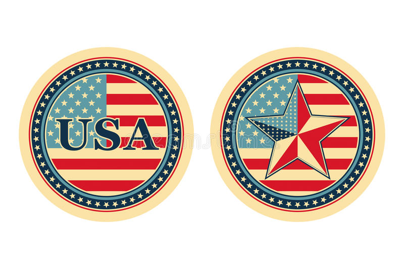 begrepp nationella USA vektor illustrationer