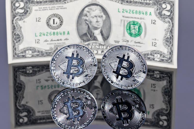 Begrepp: pengar som investerar i skyddade cryptocurrencies arkivfoton