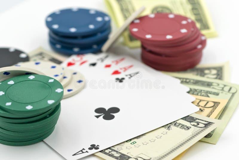 Begrepp: stor lycka i dobbleri och kasino royaltyfria bilder