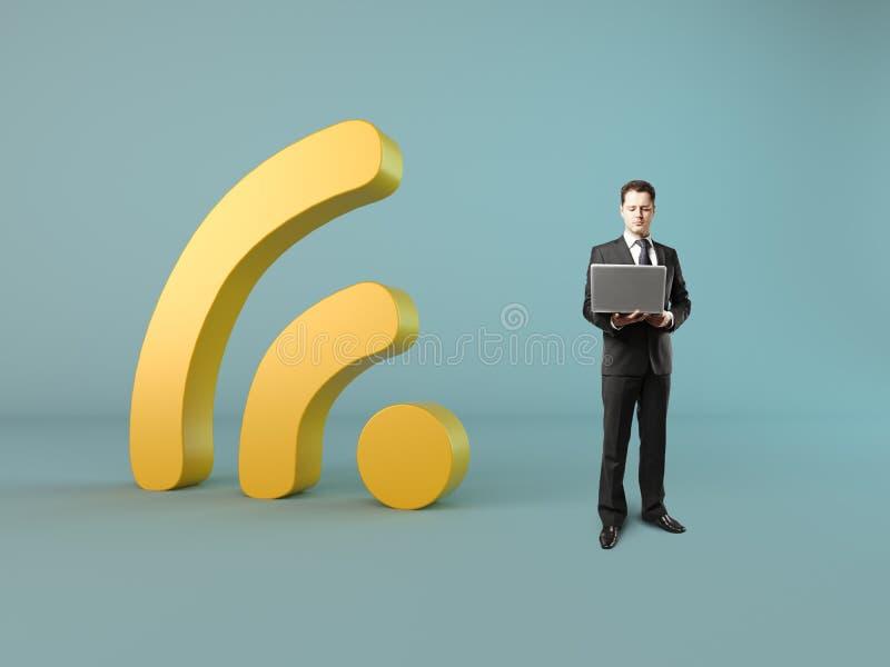 begrepp Wi-fi royaltyfri bild