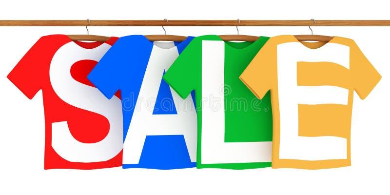 begreppet 3d framför försäljning stock illustrationer