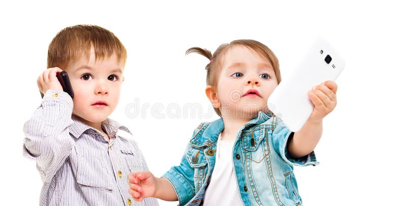 Begreppet av den moderna utvecklingen av barn royaltyfri foto