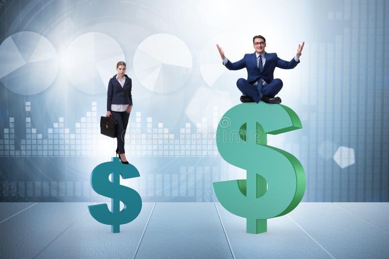 Begreppet av det inequal lön- och genusmellanrummet mellan mankvinnan arkivfoton