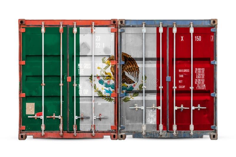 Begreppet av export-importen och nationell leverans av gods royaltyfri fotografi