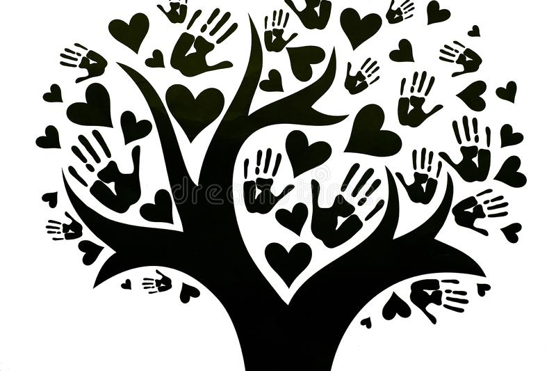 Begreppet av fred, enhet, kamratskap och förälskelse vektor illustrationer