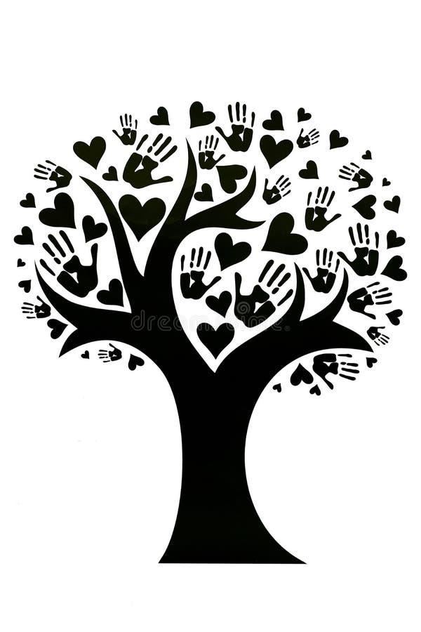 Begreppet av fred, enhet, kamratskap och förälskelse royaltyfri illustrationer