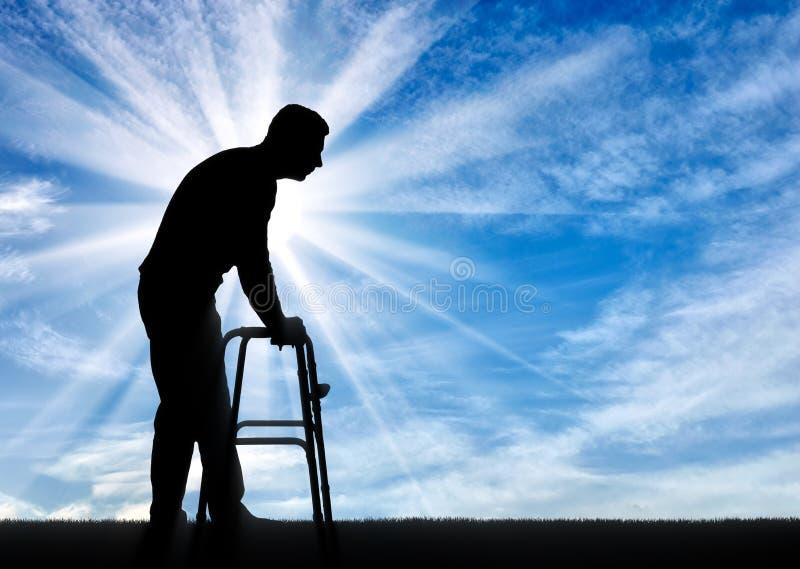 Begreppet av rehabilitering av folk med skador royaltyfria foton