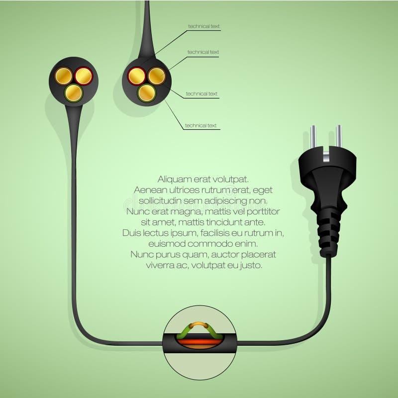 begreppet av ren energi royaltyfri illustrationer