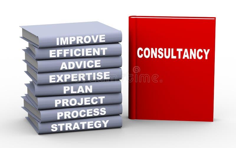 begreppet för consultancy 3d bokar royaltyfri illustrationer