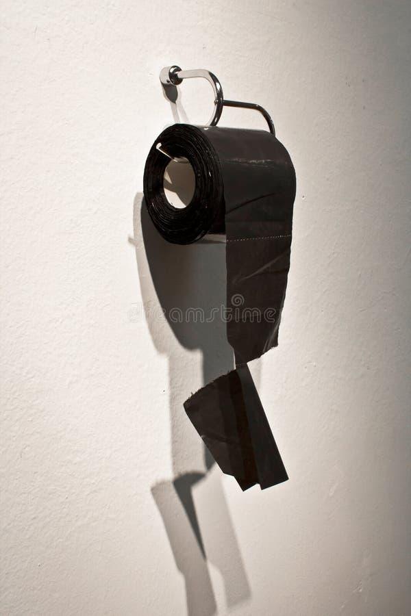 Begreppet för nylontoalettpapper för blidkar, skojar, absurt, bryderit som möts arkivfoton