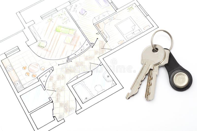 begreppet keys plan arkivbilder