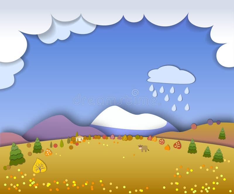 Begreppsändring av säsonger Jordklotbegrepp som visar ett fridsamt och ett I vektor illustrationer
