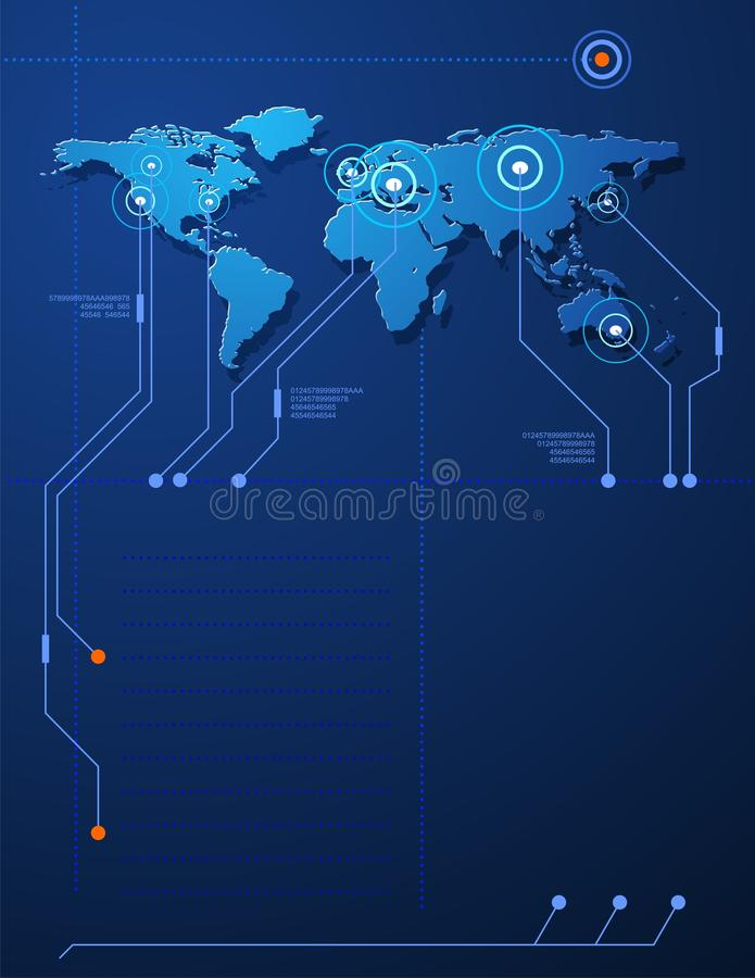 begreppsöversiktsvärld vektor illustrationer