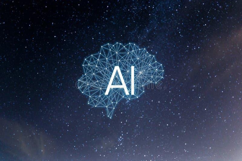 BegreppsAIArtificial intelligens arkivbild