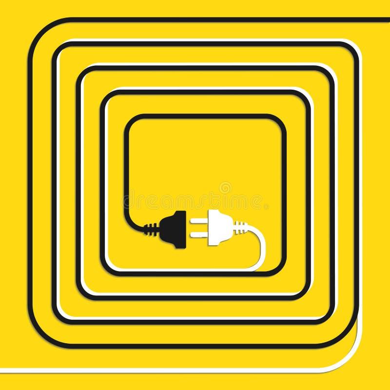 Begreppsanslutning, urkoppling, elektricitet stock illustrationer