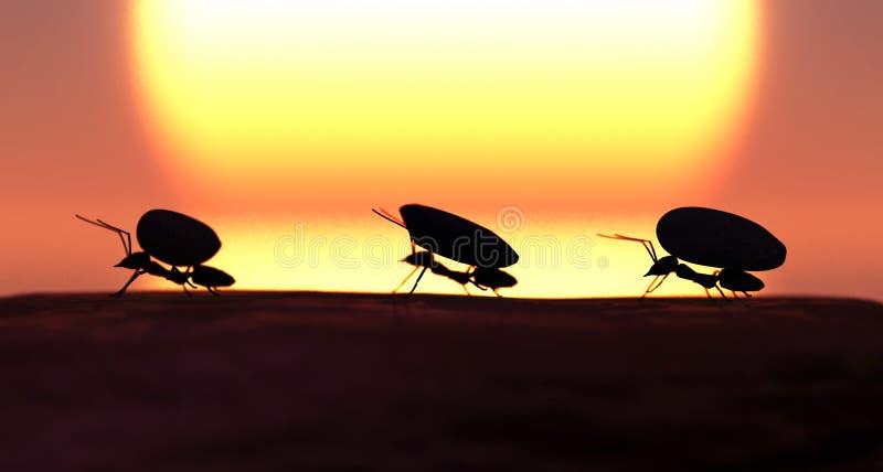 begreppsarbete, lag av myror vektor illustrationer