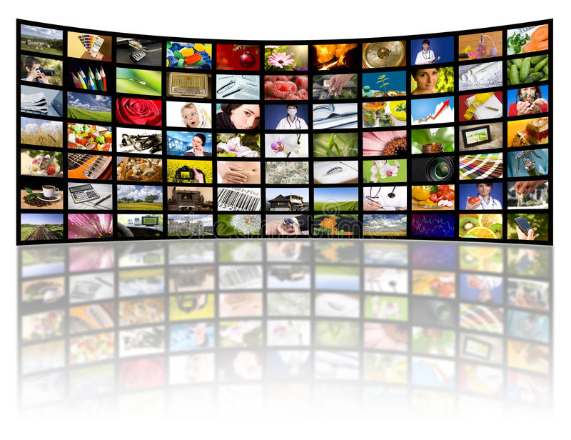 begreppsfilmen panels produktiontelevisiontv:n royaltyfria bilder