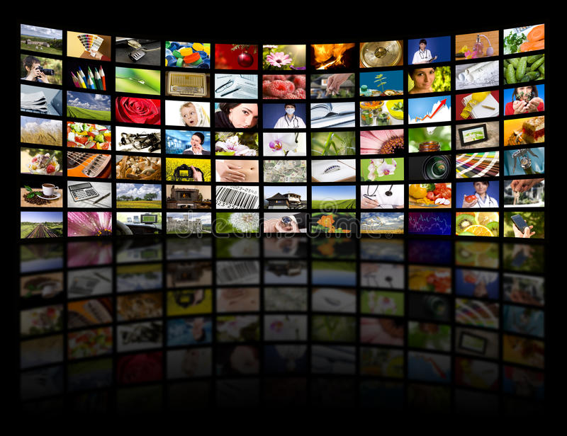 begreppsfilmen panels produktiontelevisiontv:n royaltyfri fotografi