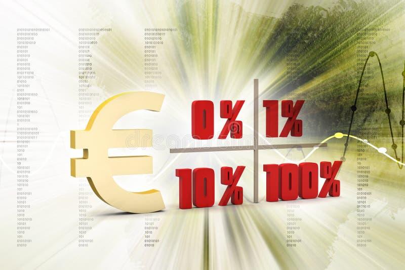 Begreppsfinansprocent royaltyfri fotografi
