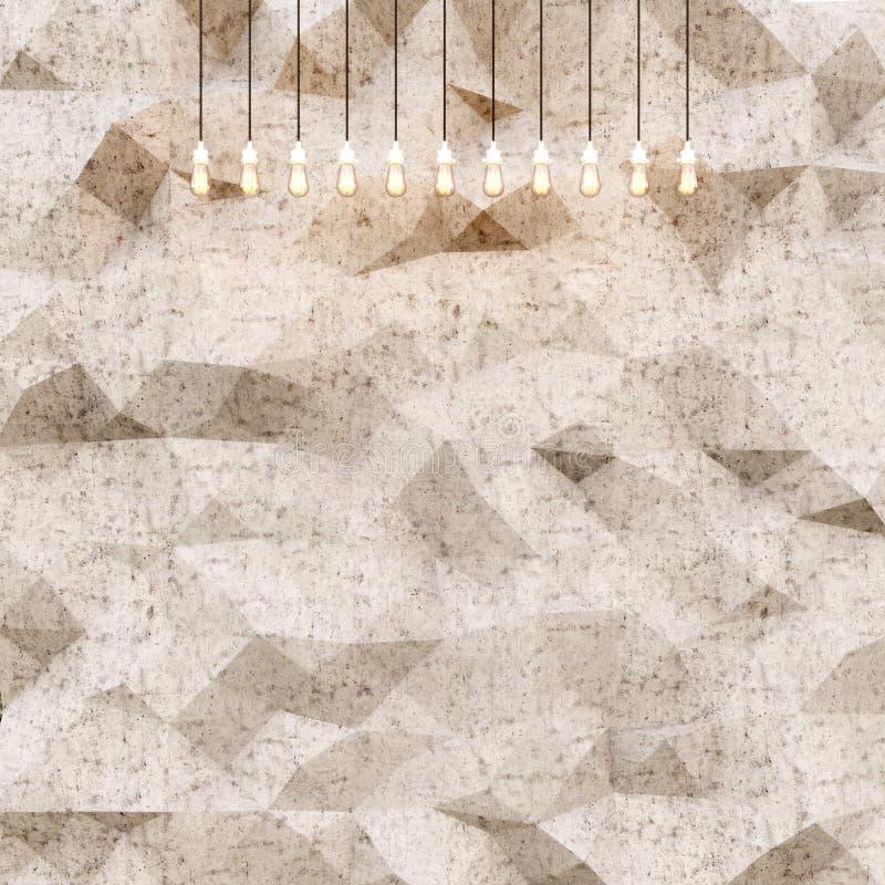 Begreppsfoto av högt detaljerad abstrakt polygonyttersida Naturlig fasad för stenvägg Abstrakt bakgrund för färgdiagram royaltyfri foto