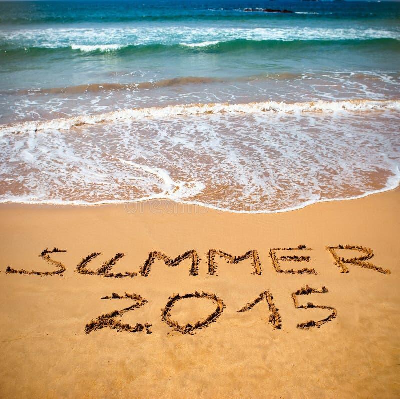 Begreppsfoto av sommarloppet och semestern 2015 royaltyfria bilder