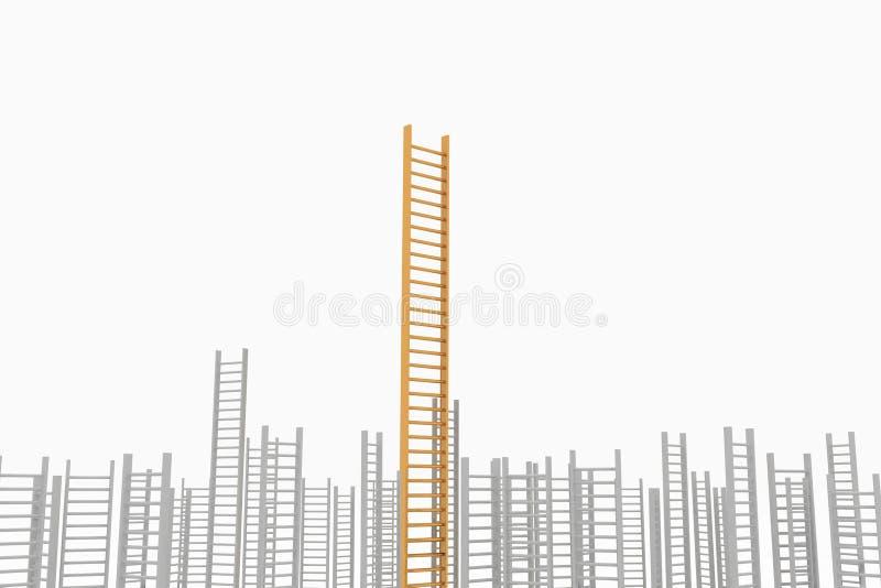 Begreppsidé av framgång och beständighet vektor illustrationer
