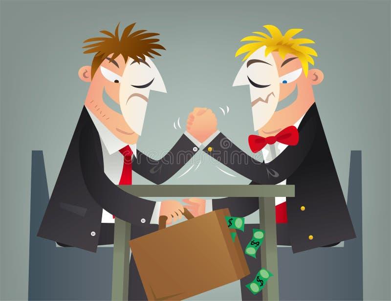 Begreppsillustration av ett affärsbedrägeri stock illustrationer