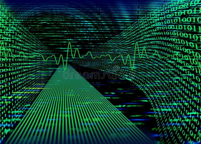 begreppsinternet för binär kod stock illustrationer