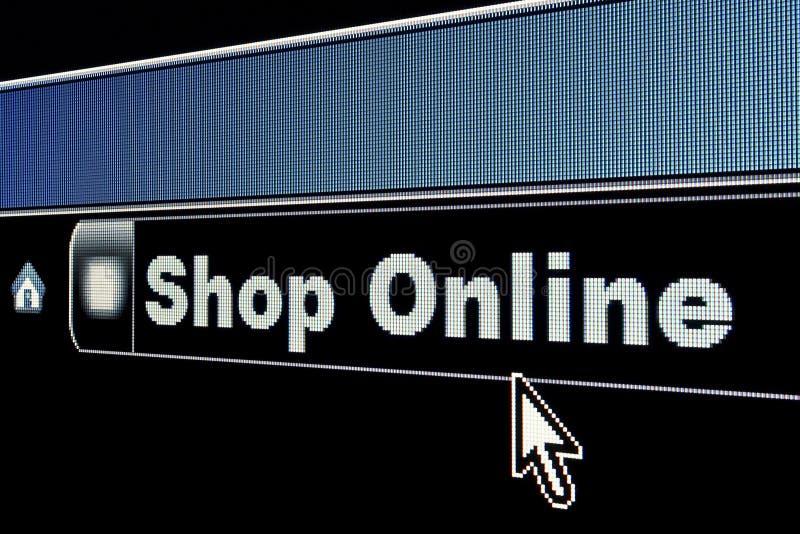 begreppsinternet online shoppar royaltyfri fotografi