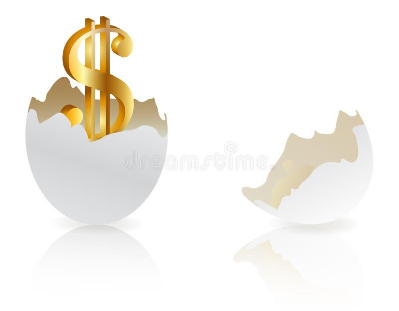 begreppsinvestering stock illustrationer