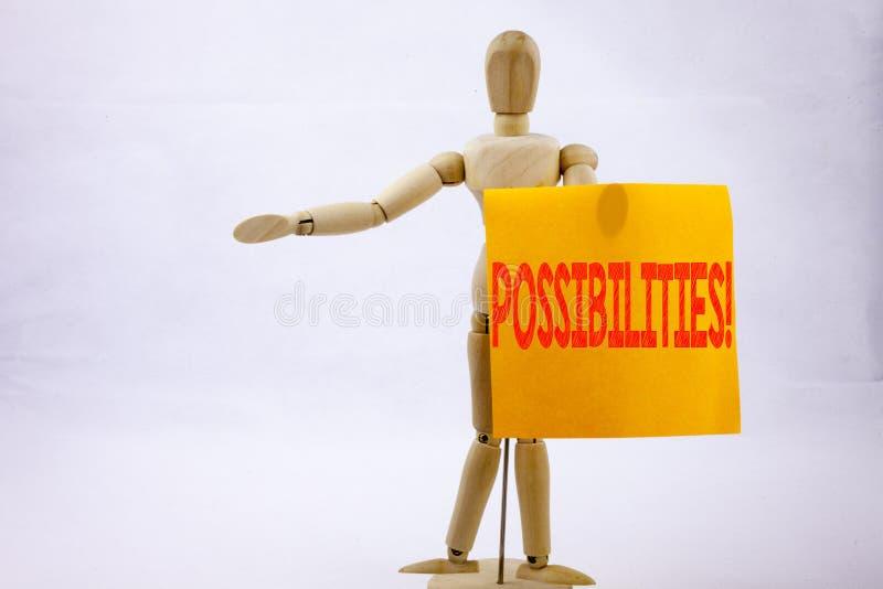 Begreppsmässig affärsidé för möjligheter för visning för inspiration för överskrift för handhandstiltext för omöjliga primaa val  fotografering för bildbyråer