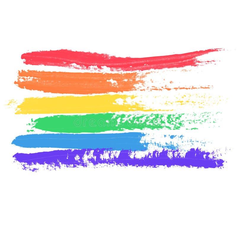 Begreppsmässig affisch med LGBT-regnbågeflaggan stock illustrationer